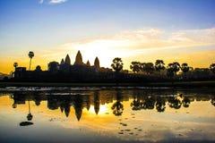 Cambodja Siem Reap Angkor Wat Sunrise arkivfoto