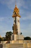 Cambodja Vietnam kamratskapmonument Arkivbild