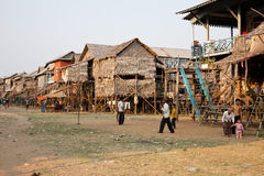 Cambodjaans dorp Royalty-vrije Stock Fotografie