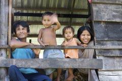 Cambodjaanse Familie Stock Afbeeldingen
