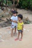 Cambodjaanse jonge geitjes Royalty-vrije Stock Foto