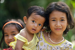 Cambodjaanse jonge geitjes Stock Afbeeldingen