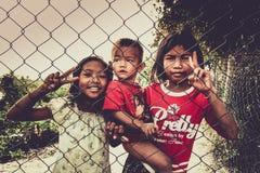 Cambodjaanse kinderen Stock Foto