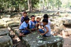 Cambodjaanse Kinderen Royalty-vrije Stock Afbeelding