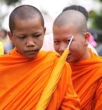 Cambodjaanse Monniken Royalty-vrije Stock Afbeelding