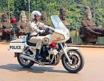 Cambodjaanse Politieagent Stock Foto