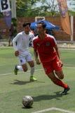 Cambodjaanse spelers in actie, Kampot kambodja stock foto's