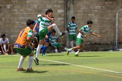 Cambodjaanse spelers in actie, Kampot kambodja royalty-vrije stock foto's