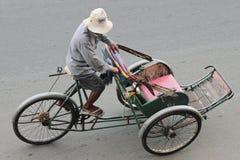 Cambodjaanse Trishaw Royalty-vrije Stock Afbeelding