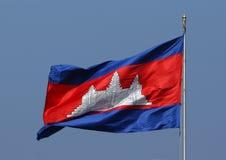 Cambodjaanse Vlag stock afbeeldingen