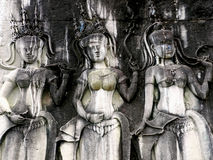 Cambogian女神 库存照片