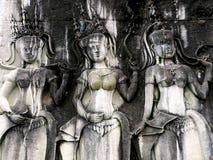 Cambogian Goddesses Stock Photos