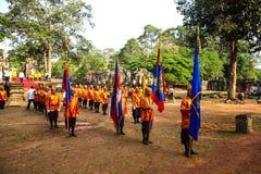 Camboja o presh Ploughing real do bayon do angkor de Siem Reap da cerimônia vihear Fotos de Stock