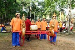 Camboja o presh Ploughing real do bayon do angkor de Siem Reap da cerimônia vihear Fotos de Stock Royalty Free