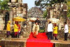 Camboja o presh Ploughing real do bayon do angkor de Siem Reap da cerimônia vihear Imagem de Stock Royalty Free