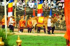 Camboja o presh Ploughing real do bayon do angkor de Siem Reap da cerimônia vihear Fotografia de Stock Royalty Free