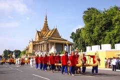 Camboja o presh Ploughing real do bayon do angkor de Siem Reap da cerimônia vihear Fotografia de Stock