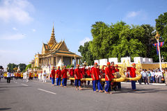 Camboja o presh Ploughing real do bayon do angkor de Siem Reap da cerimônia vihear Imagens de Stock