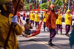 Camboja o presh Ploughing real do bayon do angkor de Siem Reap da cerimônia vihear Imagens de Stock Royalty Free