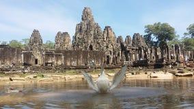 camboya Angkor Thom City Templo de Bayon Provincia de Siem Reap Ciudad de Siem Reap Fotografía de archivo