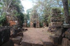 camboya Ciudad de Koh Ker Cochecito de niño de Prasat Provincia de Preah Vihear Ciudad de Siem Reap Imagen de archivo