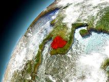 Camboya de la órbita de Earth modelo Imagen de archivo libre de regalías