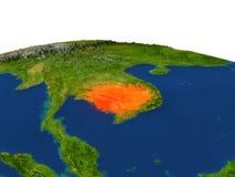Camboya en rojo de la órbita stock de ilustración