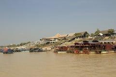 Camboya. Río Tonselap Fotografía de archivo libre de regalías
