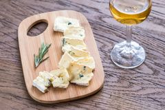 Cambozola cheese Royalty Free Stock Images