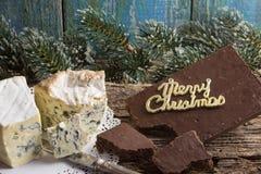 ` Cambozola, des Bleu d edle feinschmeckerische Käse Auvergne mit Blau und w Stockbild