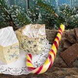` Cambozola, des Bleu d edle feinschmeckerische Käse Auvergne mit Blau und w Stockfoto