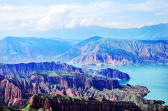 Cambra National Forest Park in Qinghai Geological Royalty Free Stock Photo