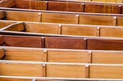 Cambridge, Anglia, drewniane łodzie Zdjęcia Stock