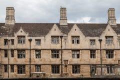 Cambridge Anglia Dziejowy ceglany dom Fotografia Stock