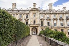Cambridge Anglia Dziejowy ceglany dom Zdjęcia Royalty Free