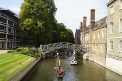 Cambridge university river punting fun