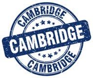 Cambridge blue grunge round vintage stamp Royalty Free Stock Photography