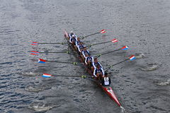 Cambridge Boat Club races in the Head of Charles Regatta Men's Championship Eights Stock Image