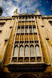 Cambridge building. Windows of Cambridge college royalty free stock images
