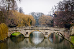 Cambridge, Cam river (England) Royalty Free Stock Photo