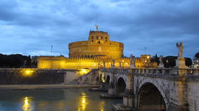 Castello San Angelo in Rome Royalty Free Stock Photo