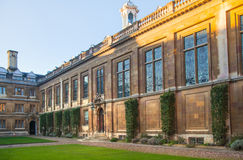 Cambridge, Clare college inner yard view Royalty Free Stock Photos