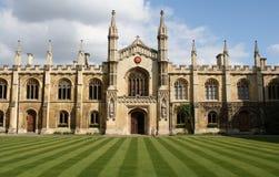 Cambridge college. Interior of a college in the university of Cambridge Stock Images