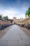A Cambridge college, with bikes Royalty Free Stock Photography