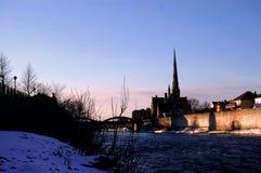 Cambridge in de ochtend royalty-vrije stock afbeeldingen