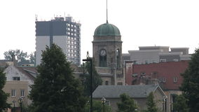 Cambridge Downtown. Tower clock stock video footage