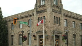 Cambridge Downtown. Victoria style buildings stock video
