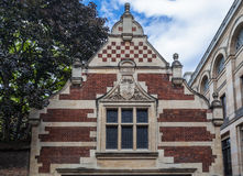 Cambridge England Historical Brick Building Royalty Free Stock Photo