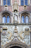 Cambridge England Historical Brick Building Royalty Free Stock Images