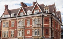 Cambridge England Historical Brick Building Stock Photo